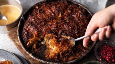 Kålpudding med pressgurka