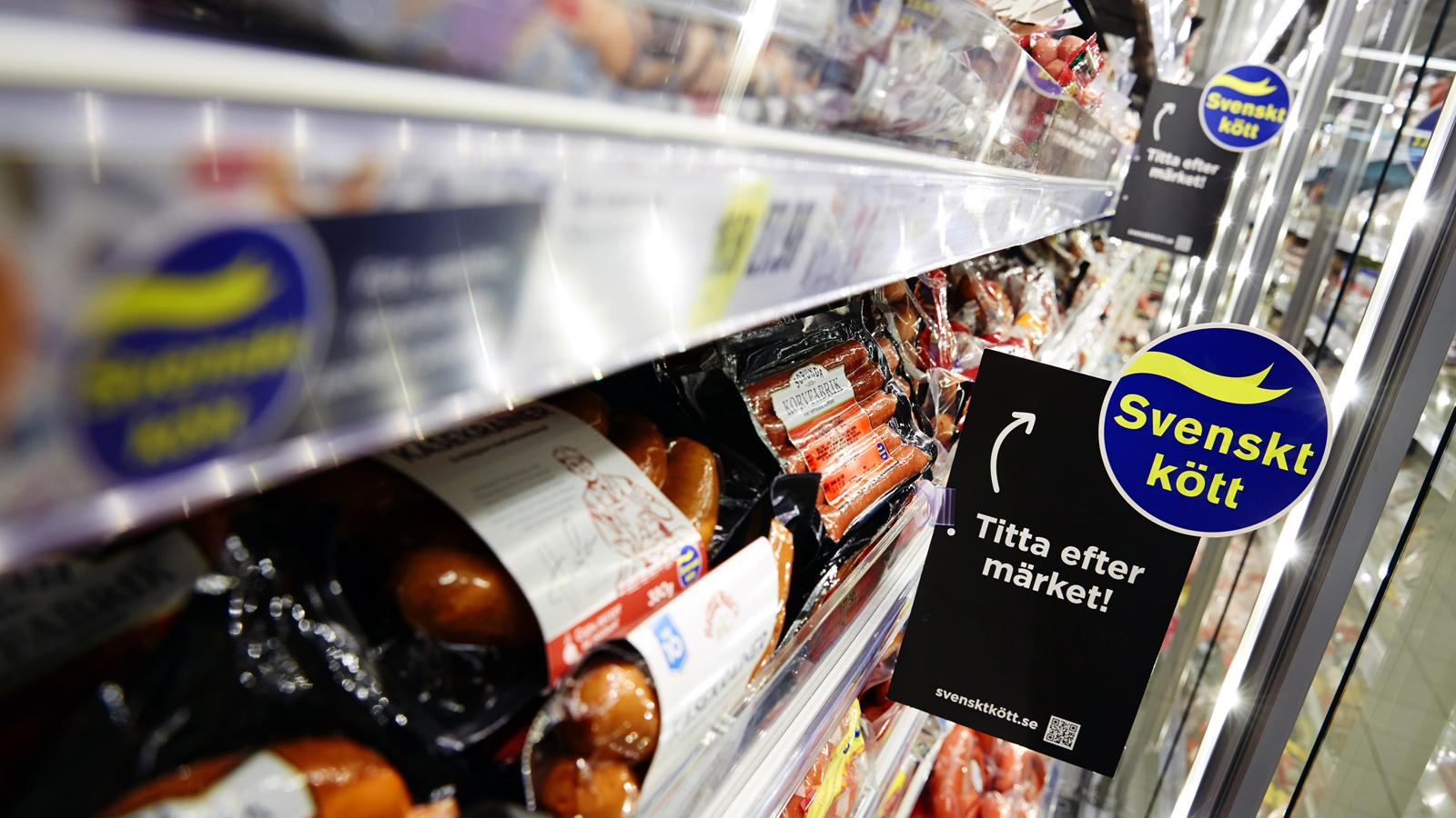 Andel svenskproducerat kött av förbrukningen