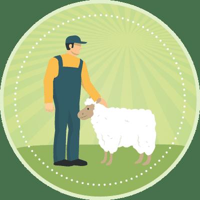 Ikon djurskydd lamm
