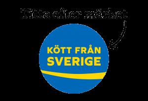 Titta efter märket Kött från Sverige